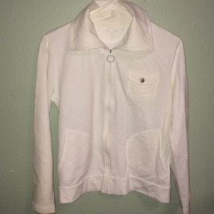 Tops - White zip up lightweight jacket size S